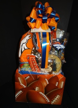 Denver broncos Gift Basket - Colorado Gift Baskets